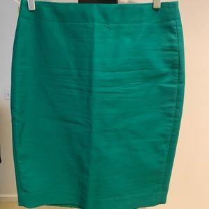 """Jcrew """"No. 2"""" Pencil Skirt - Green!"""
